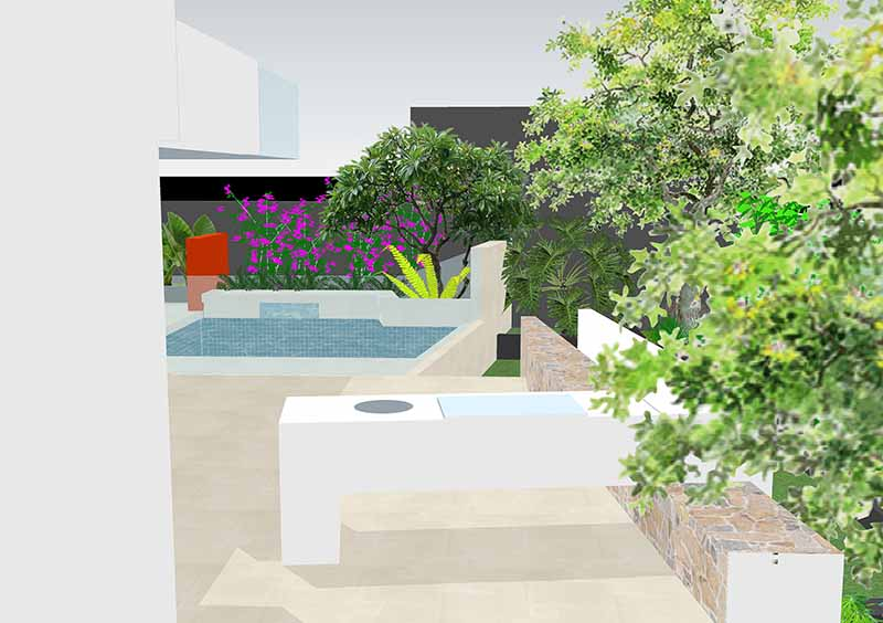 3d model landscape design drawing