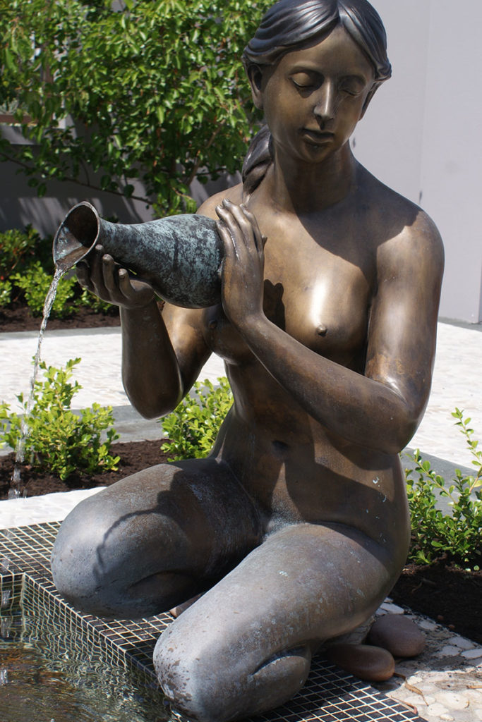 female bronze sculpture