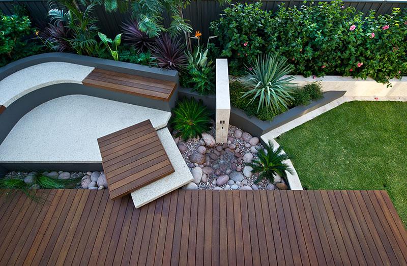 boardwalk in garden