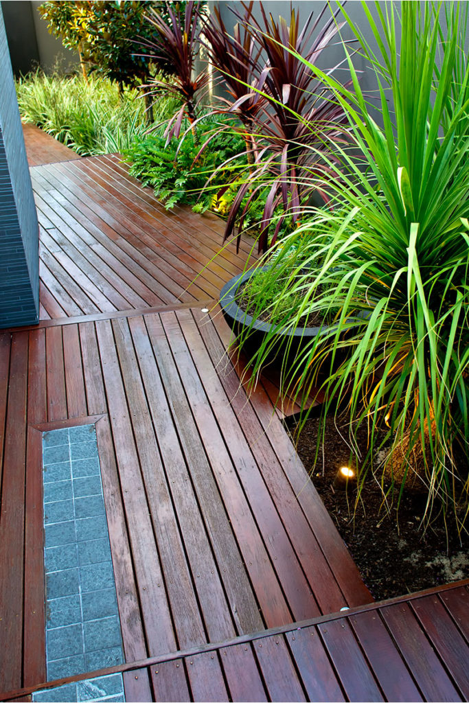 timber boardwalk outdoor space